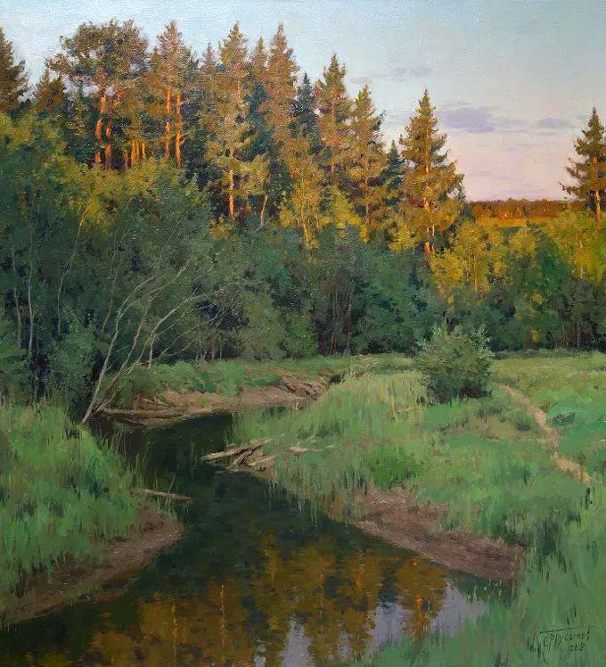 """岁月静好,俄罗斯"""" 小希施金 """" 的自然风景油画,美极了!插图77"""
