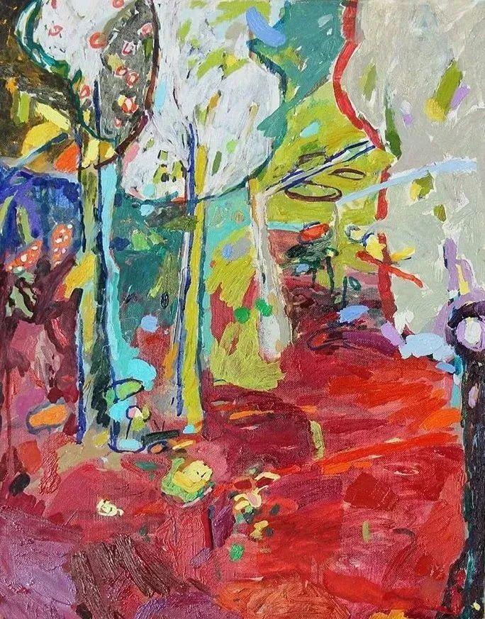 她的油画作品色彩丰富,充满爱意插图31