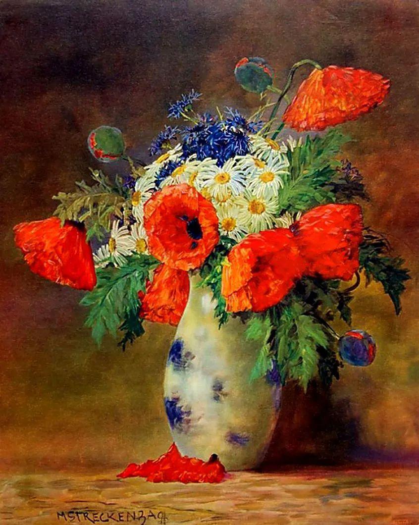 学医的他,37岁才开始自学绘画,笔下五颜六色的花束,太美了!插图17