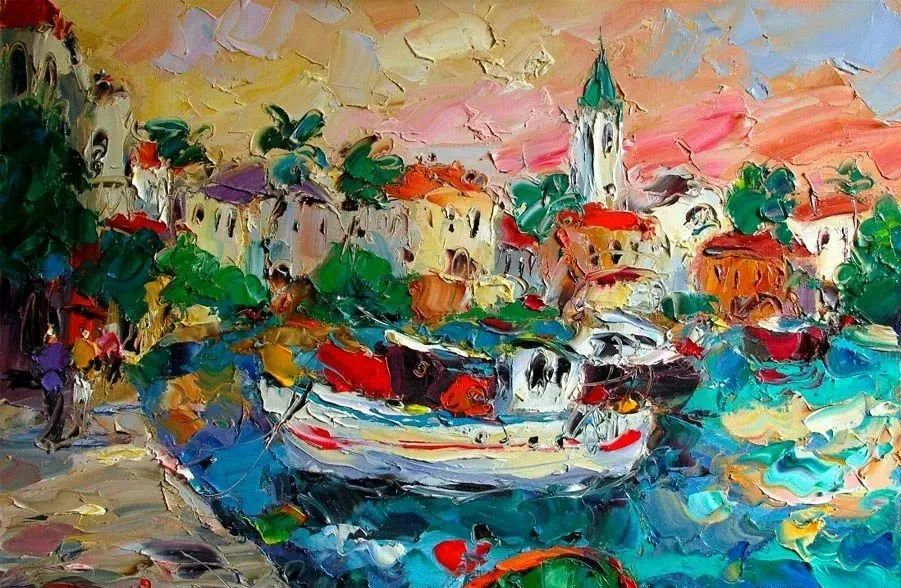 俄罗斯画家 弗拉基米尔·苏科瓦蒂 刮刀油画作品欣赏插图3