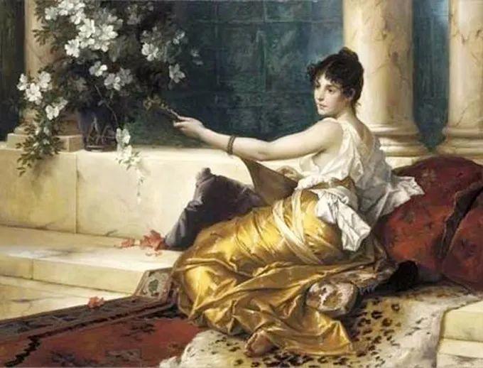德国画家康拉德油画里的优雅女子,美!插图57