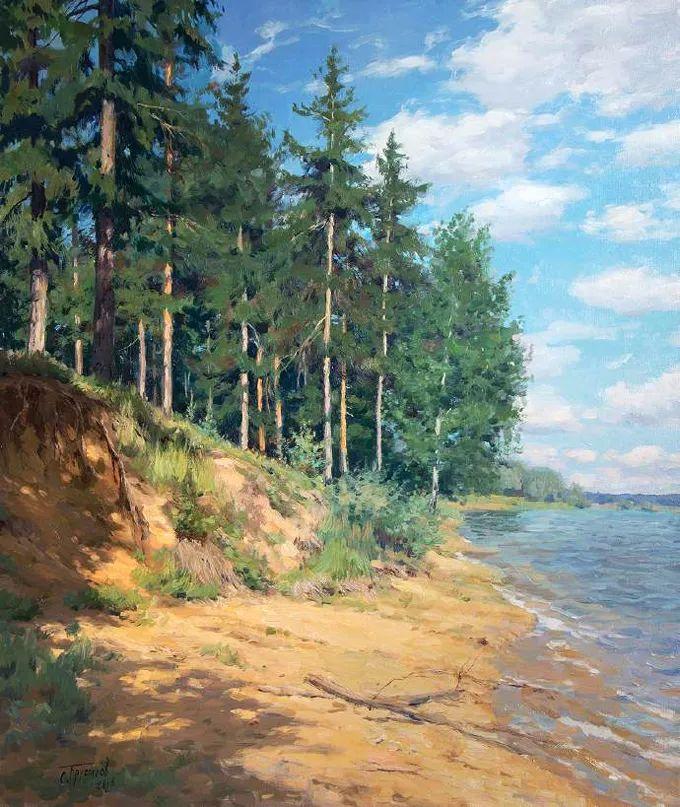 """岁月静好,俄罗斯"""" 小希施金 """" 的自然风景油画,美极了!插图69"""