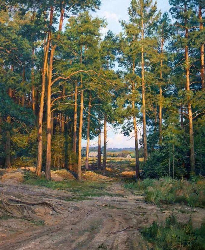 """岁月静好,俄罗斯"""" 小希施金 """" 的自然风景油画,美极了!插图43"""