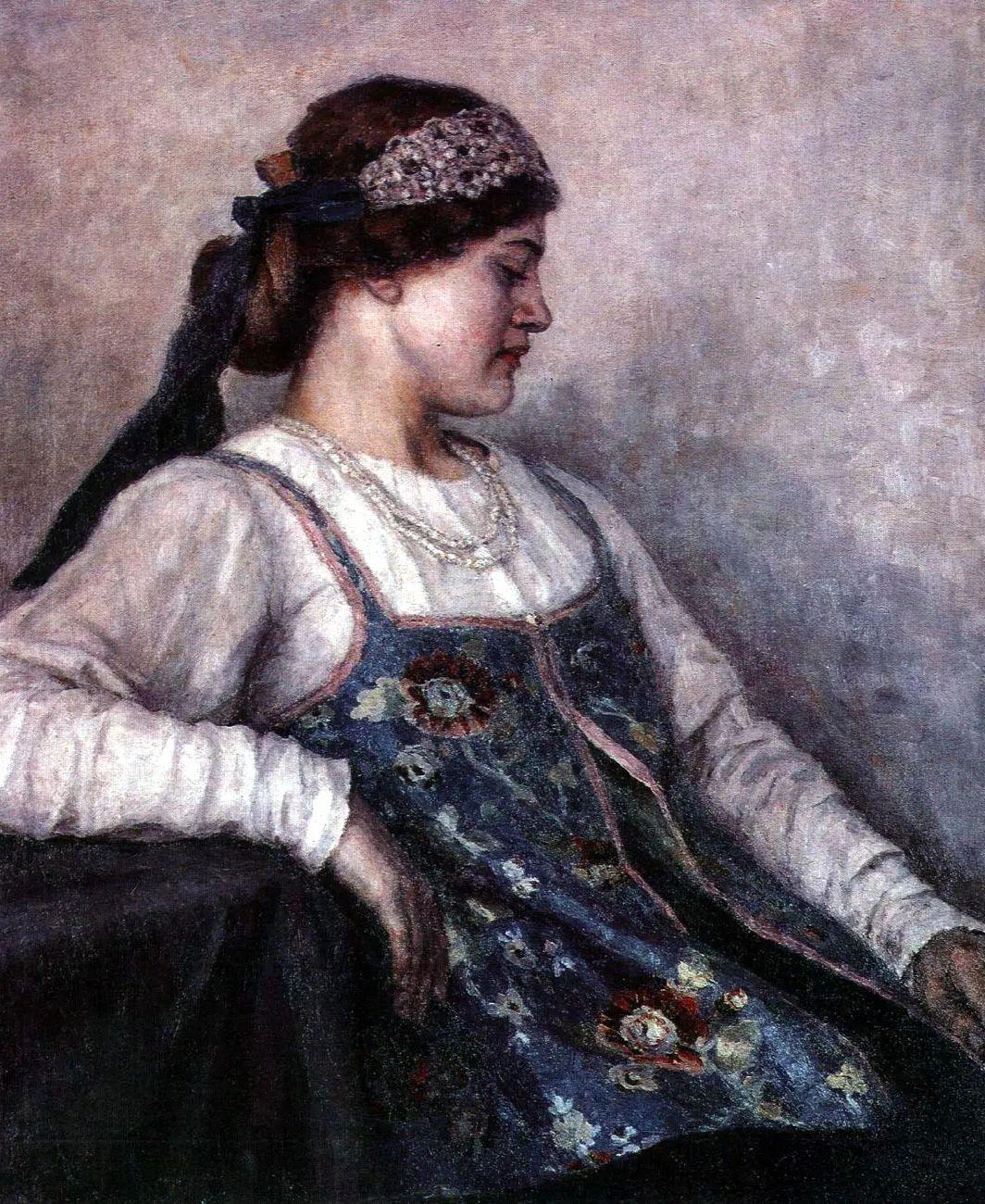 俄罗斯画坛先驱人物,瓦西里·苏里科夫人物作品选粹插图12