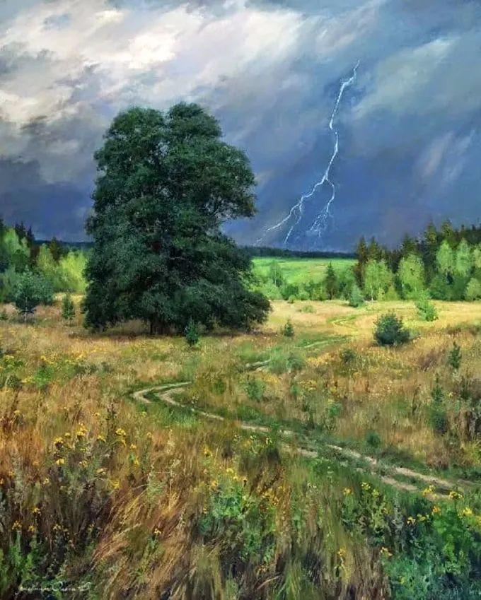 """岁月静好,俄罗斯"""" 小希施金 """" 的自然风景油画,美极了!插图7"""
