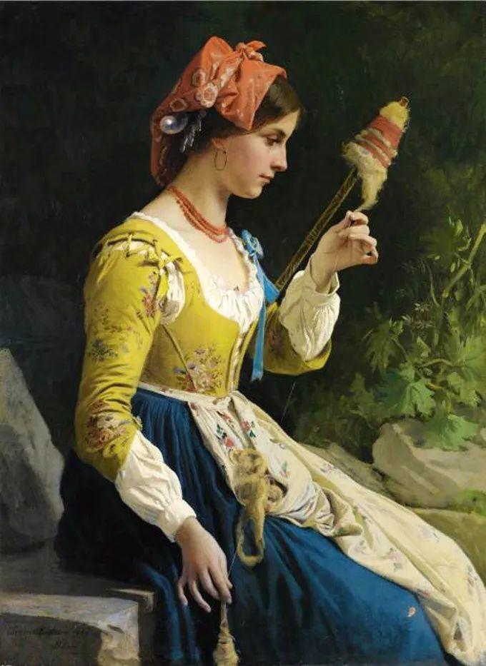 德国画家康拉德油画里的优雅女子,美!插图17
