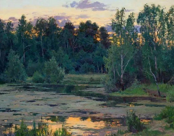 """岁月静好,俄罗斯"""" 小希施金 """" 的自然风景油画,美极了!插图59"""