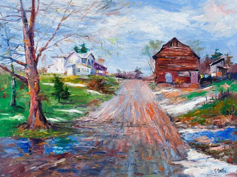 风景油画丨美国艺术家乔治·加洛的风景油画作品插图23