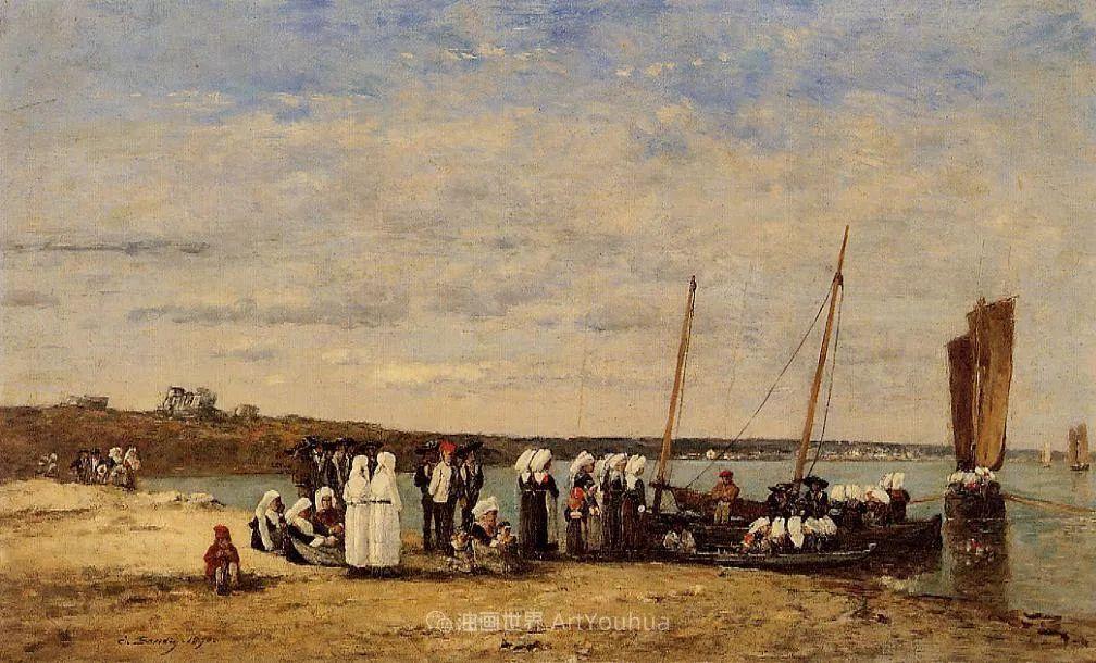 法国最早印象派画家欧仁·布丹,曾教莫奈写生!插图165