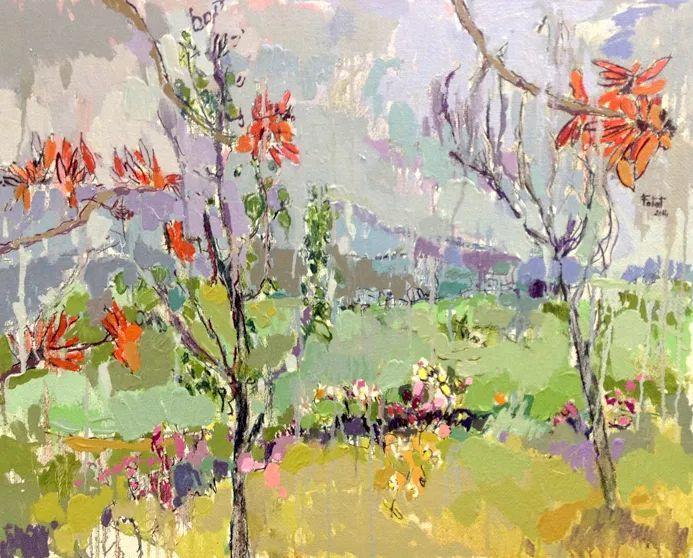 她的油画作品色彩丰富,充满爱意插图119