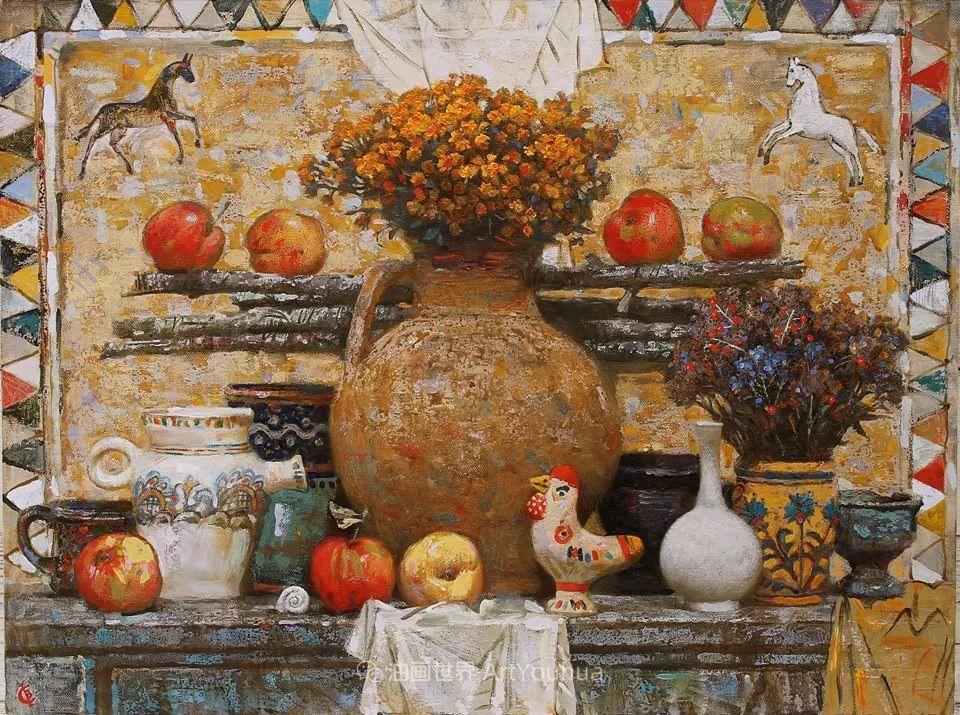 古典风格蛋彩画,俄罗斯画家弗拉基米尔·亚历山德罗维奇插图53