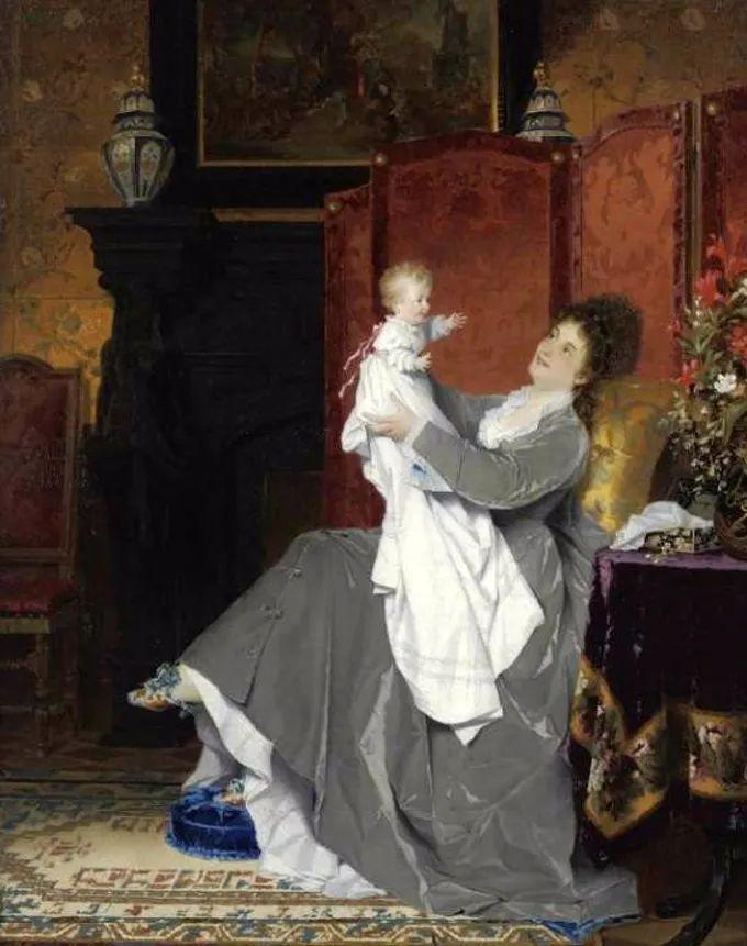 德国画家康拉德油画里的优雅女子,美!插图61