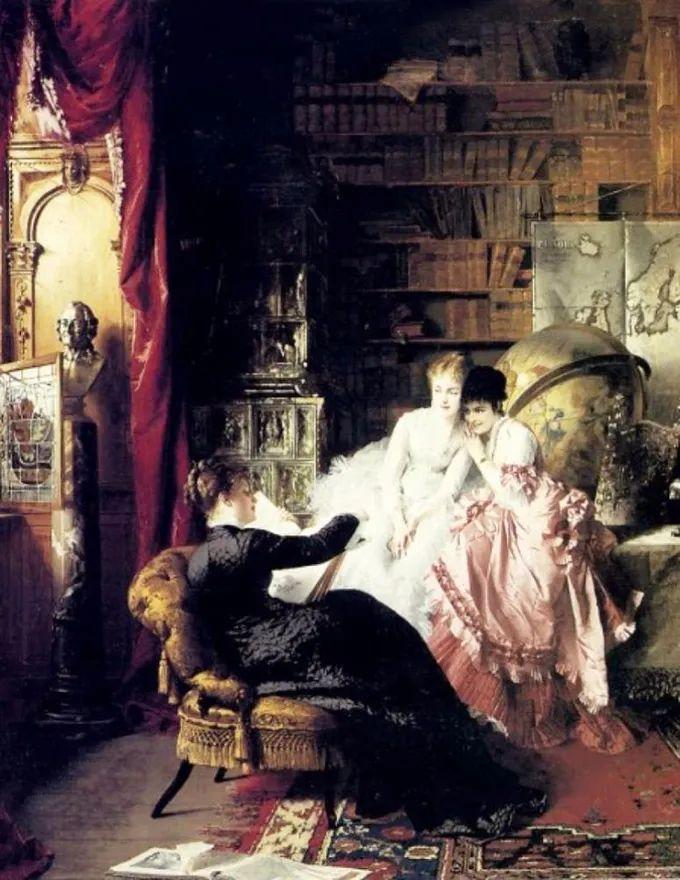 德国画家康拉德油画里的优雅女子,美!插图43