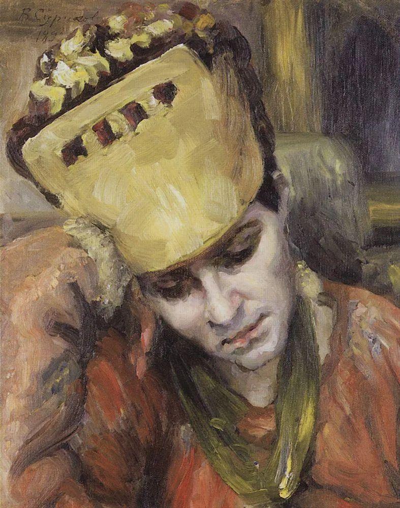 俄罗斯画坛先驱人物,瓦西里·苏里科夫人物作品选粹插图43