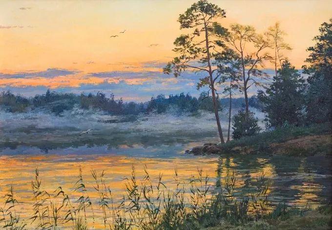 """岁月静好,俄罗斯"""" 小希施金 """" 的自然风景油画,美极了!插图21"""
