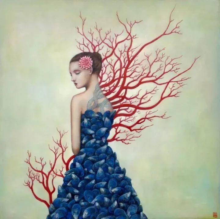 越南画家杜伊·怀恩的空灵绘画插图129