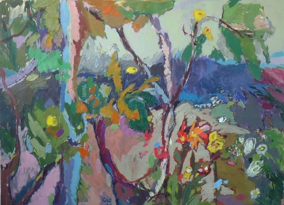 她的油画作品色彩丰富,充满爱意插图91