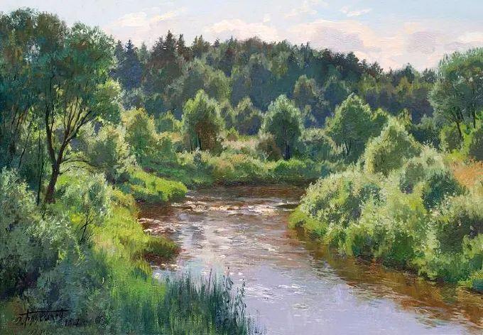 """岁月静好,俄罗斯"""" 小希施金 """" 的自然风景油画,美极了!插图81"""