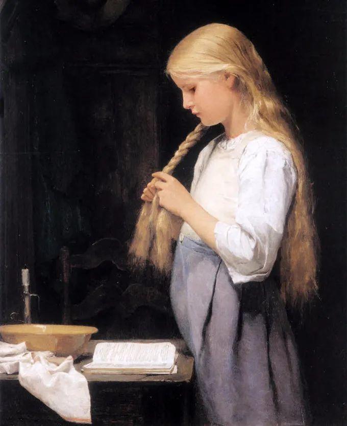 德国画家康拉德油画里的优雅女子,美!插图51