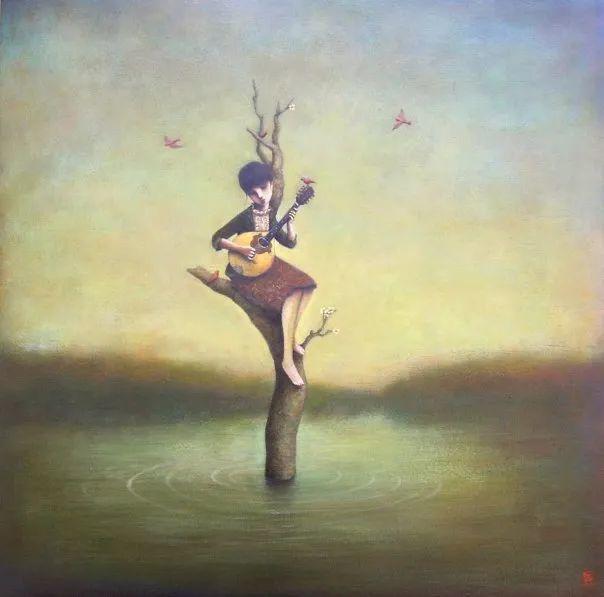 越南画家杜伊·怀恩的空灵绘画插图137