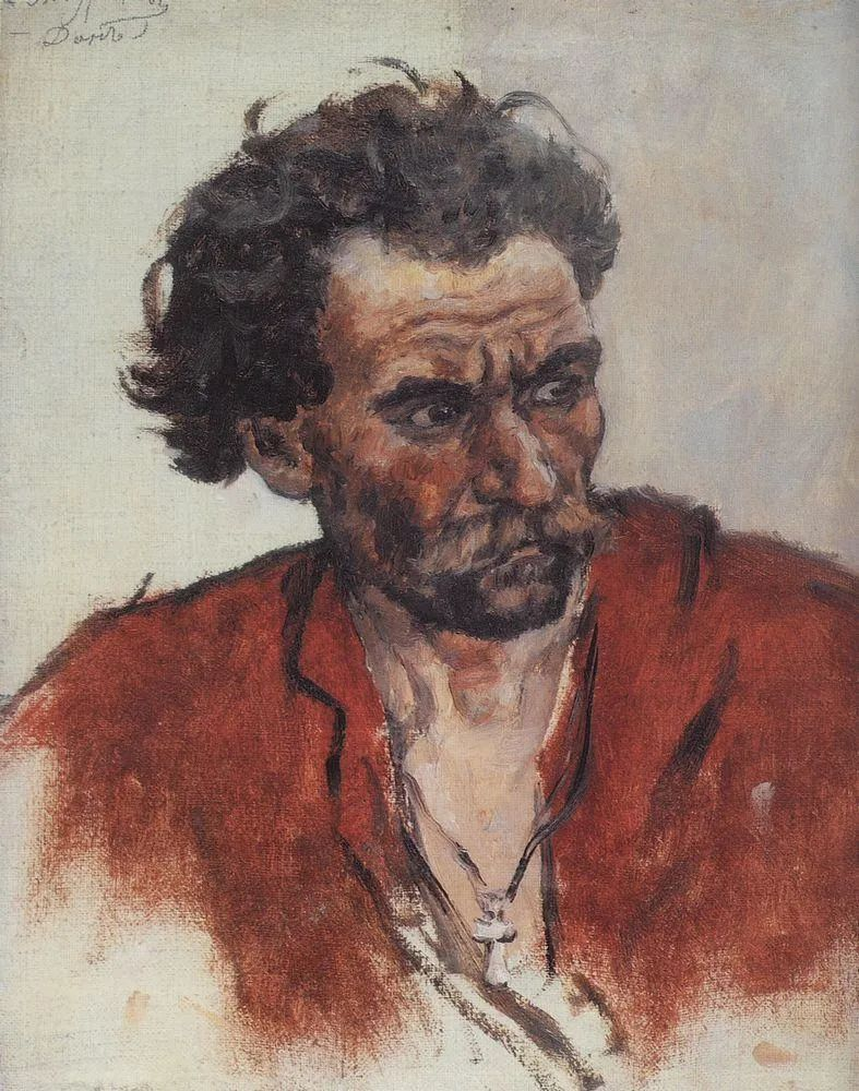 俄罗斯画坛先驱人物,瓦西里·苏里科夫人物作品选粹插图52
