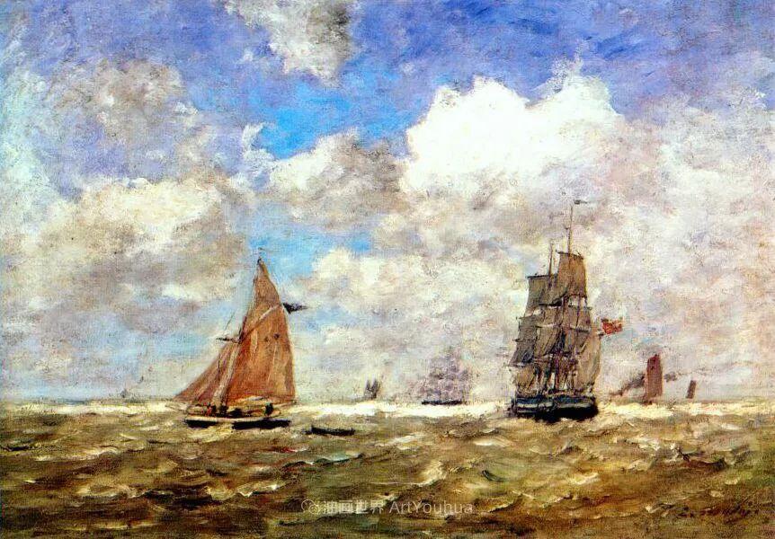 法国最早印象派画家欧仁·布丹,曾教莫奈写生!插图35