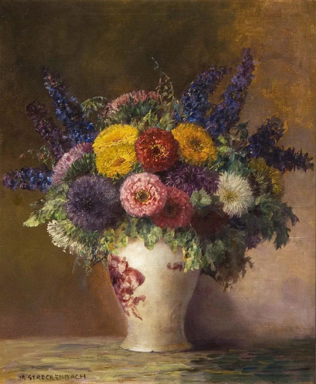 学医的他,37岁才开始自学绘画,笔下五颜六色的花束,太美了!插图35