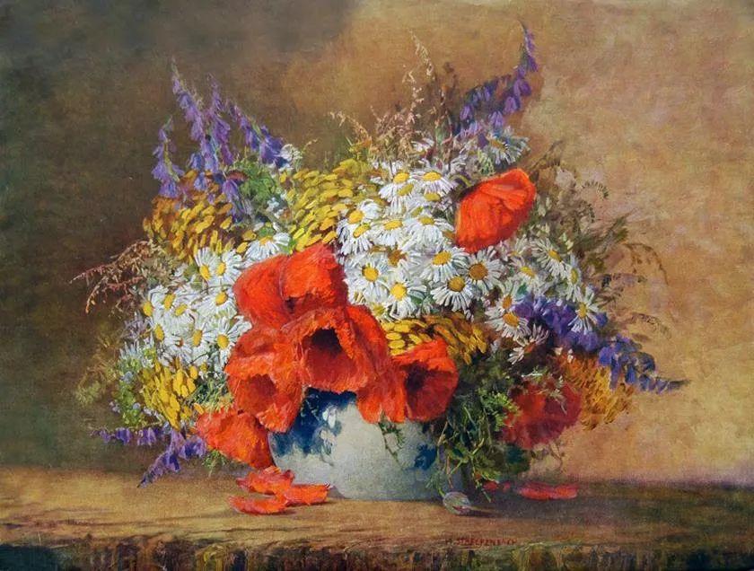 学医的他,37岁才开始自学绘画,笔下五颜六色的花束,太美了!插图7