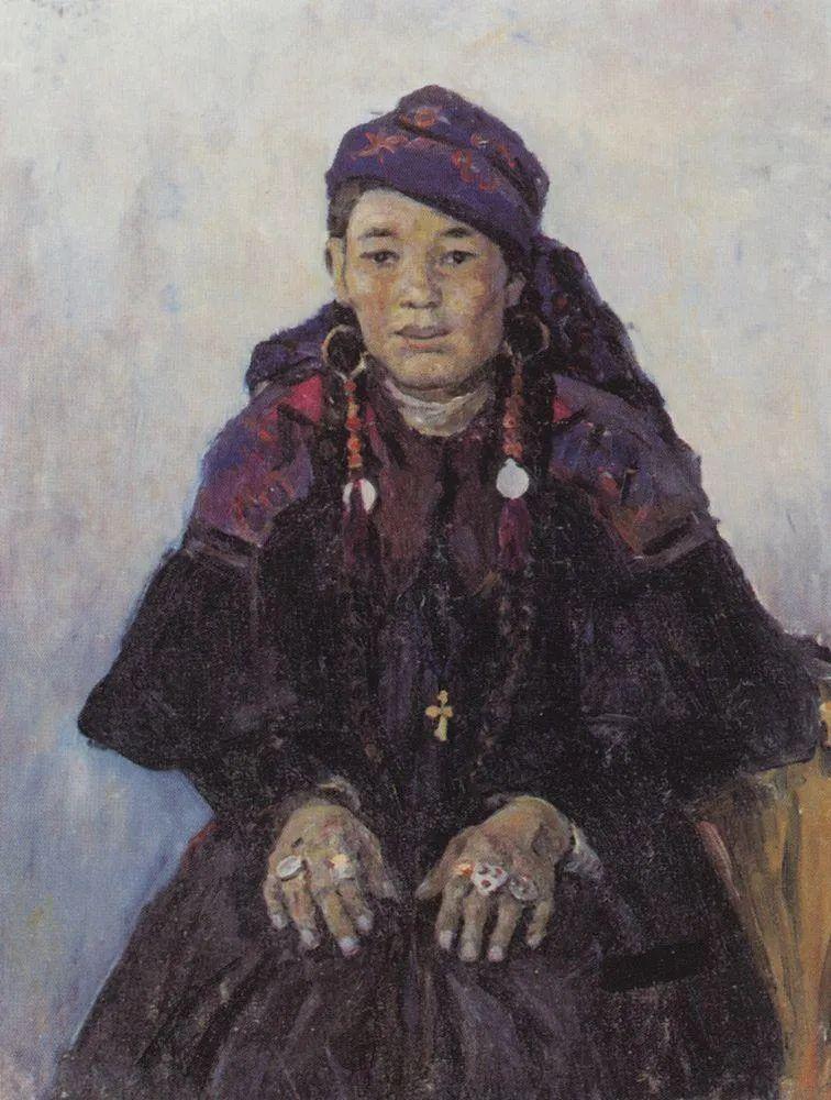 俄罗斯画坛先驱人物,瓦西里·苏里科夫人物作品选粹插图71