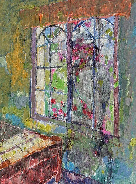 她的油画作品色彩丰富,充满爱意插图97