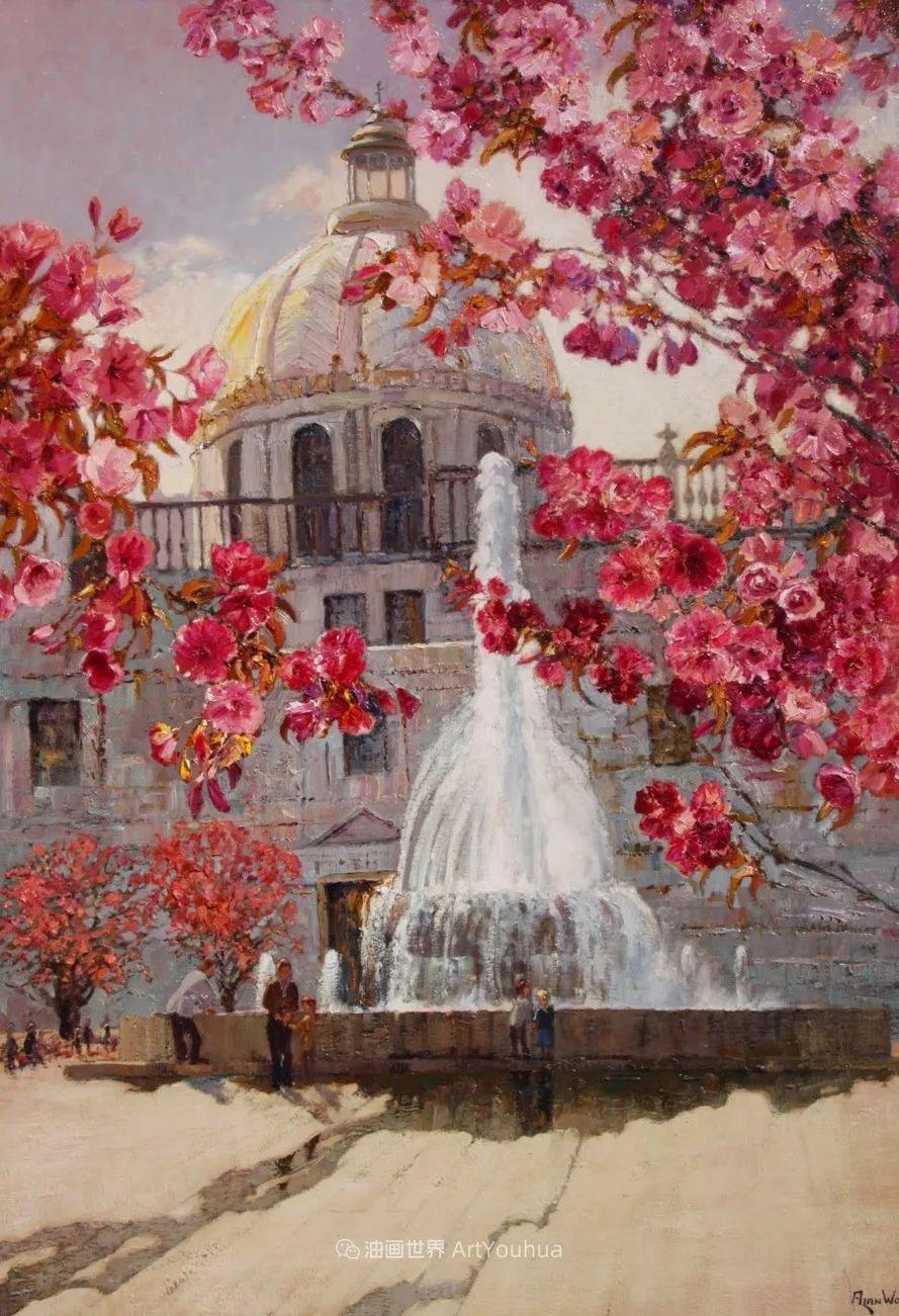 一位老爷爷笔下,色彩浓烈、笔触厚重的花卉与风景作品!插图49