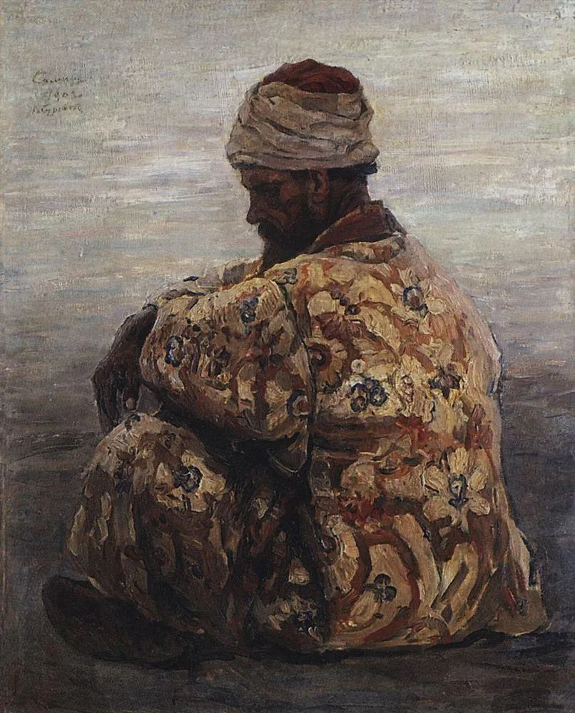 俄罗斯画坛先驱人物,瓦西里·苏里科夫人物作品选粹插图55