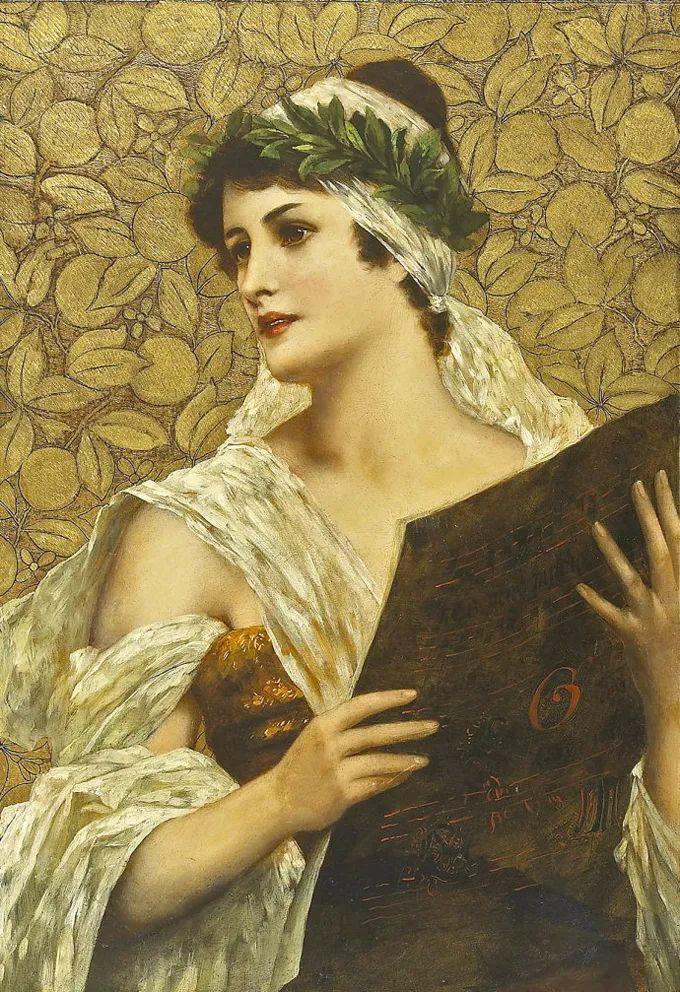 德国画家康拉德油画里的优雅女子,美!插图75