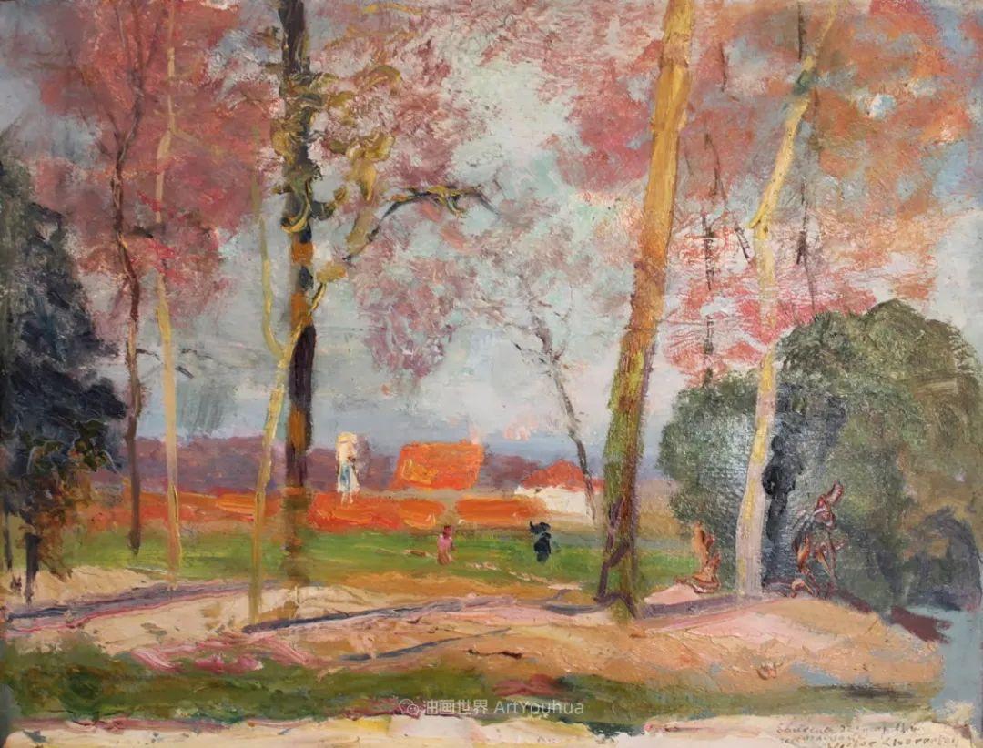 从律师到画家,法国后印象派画家维克多·查雷顿插图61
