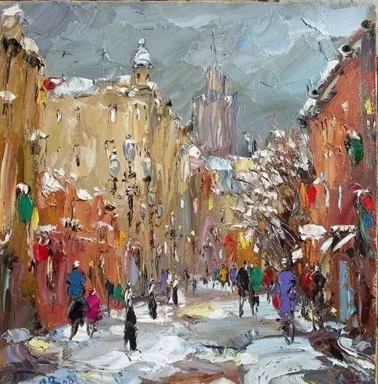 俄罗斯画家 弗拉基米尔·苏科瓦蒂 刮刀油画作品欣赏插图93