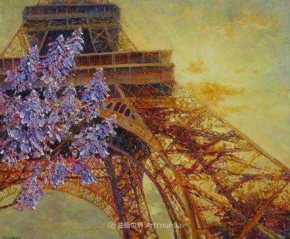 一位老爷爷笔下,色彩浓烈、笔触厚重的花卉与风景作品!插图73