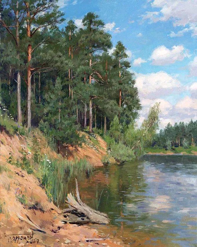 """岁月静好,俄罗斯"""" 小希施金 """" 的自然风景油画,美极了!插图97"""