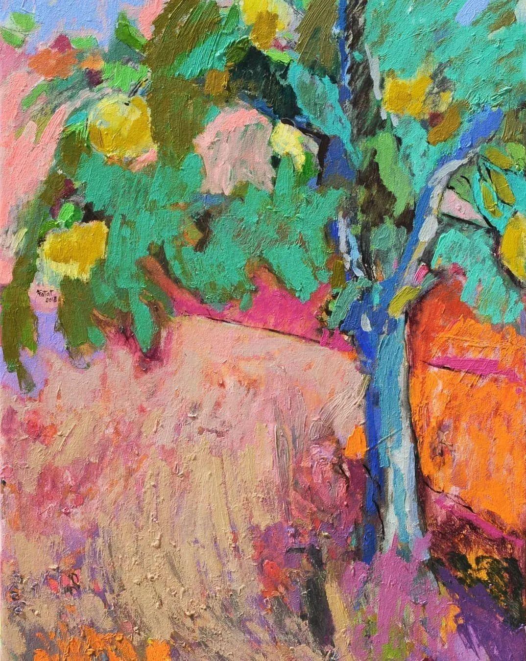 她的油画作品色彩丰富,充满爱意插图75