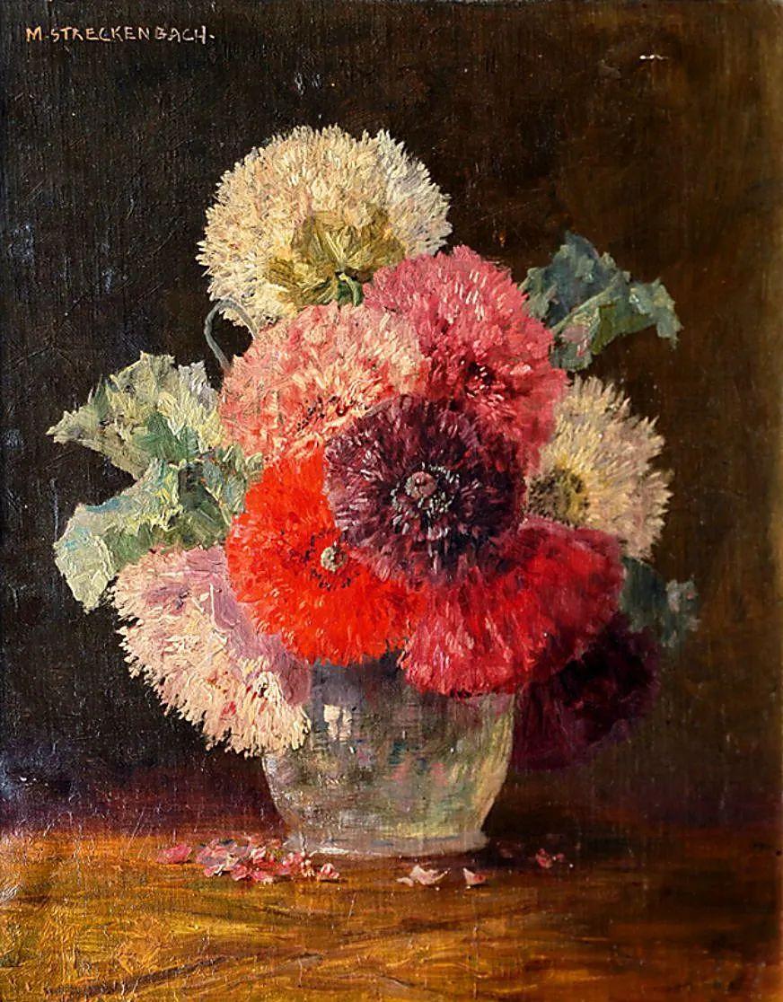 学医的他,37岁才开始自学绘画,笔下五颜六色的花束,太美了!插图37