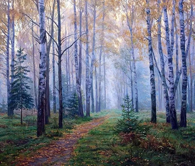 """岁月静好,俄罗斯"""" 小希施金 """" 的自然风景油画,美极了!插图45"""