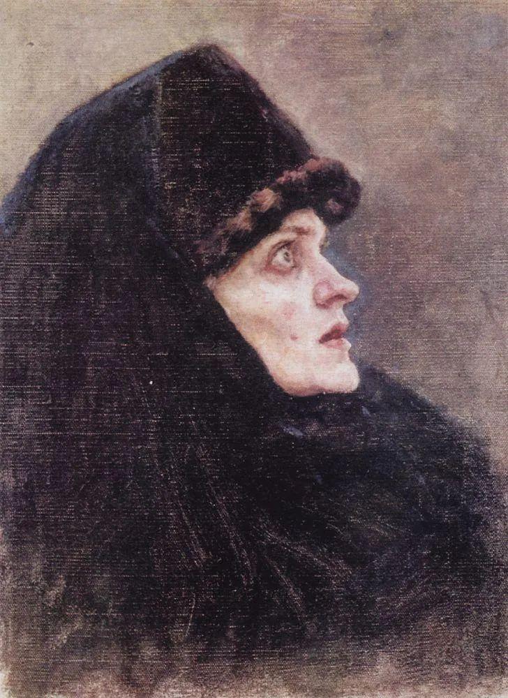 俄罗斯画坛先驱人物,瓦西里·苏里科夫人物作品选粹插图68