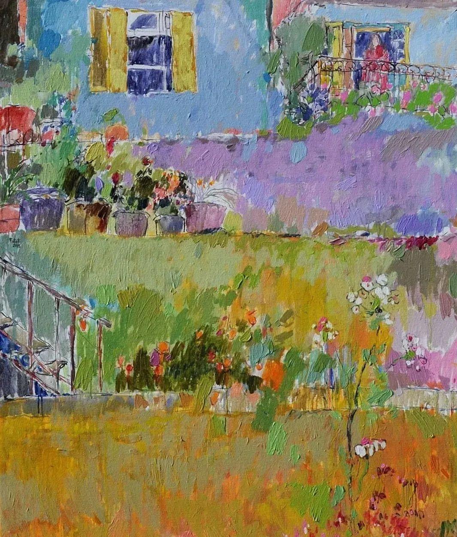 她的油画作品色彩丰富,充满爱意插图69