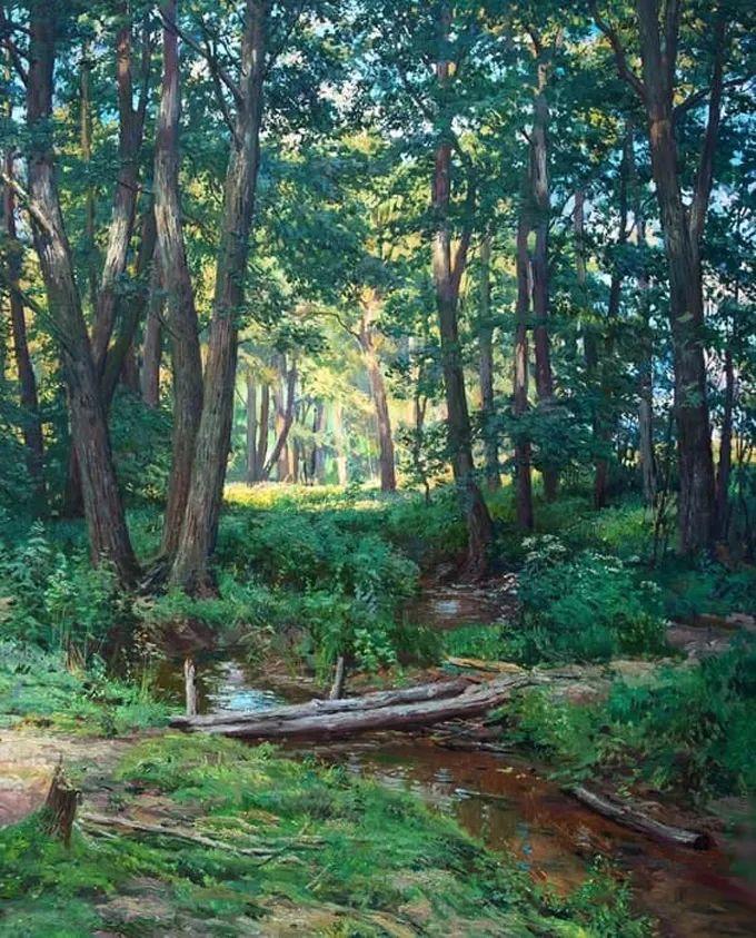 """岁月静好,俄罗斯"""" 小希施金 """" 的自然风景油画,美极了!插图51"""