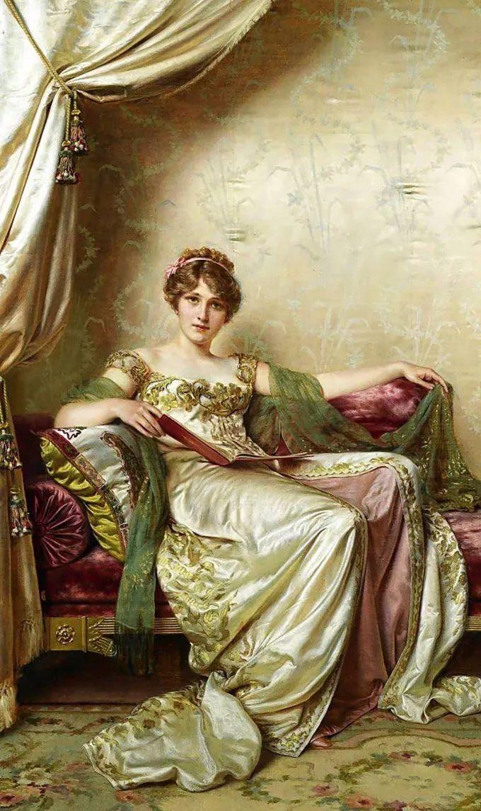 德国画家康拉德油画里的优雅女子,美!插图9