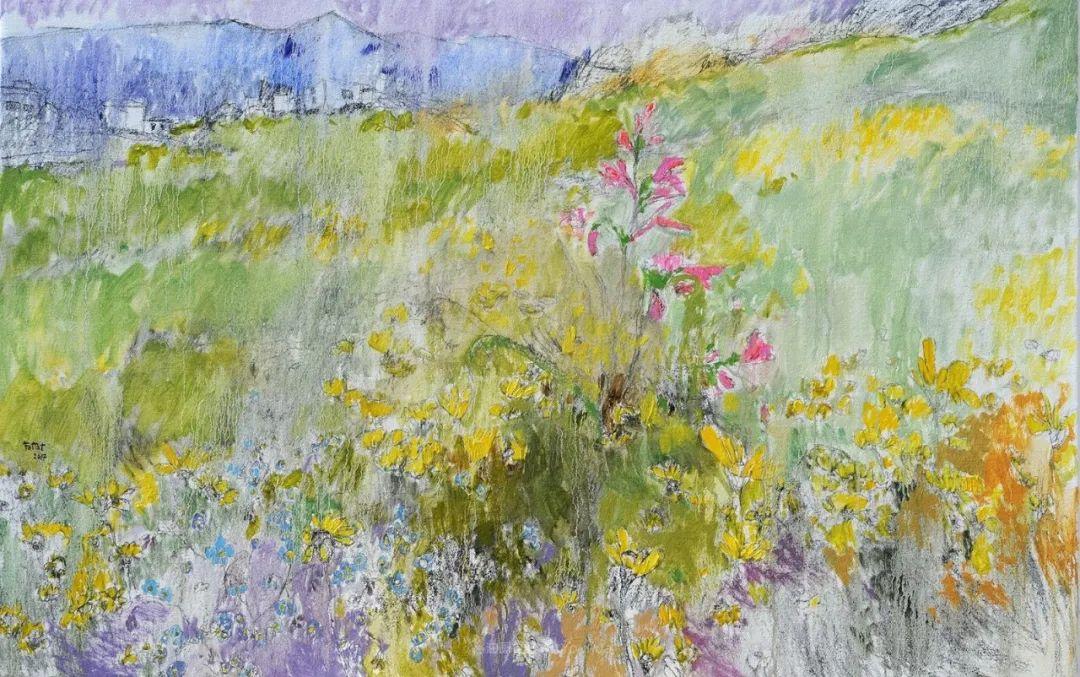 她的油画作品色彩丰富,充满爱意插图109