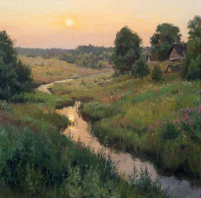 """岁月静好,俄罗斯"""" 小希施金 """" 的自然风景油画,美极了!插图91"""