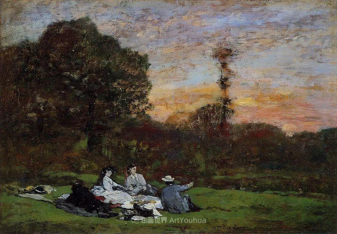 法国最早印象派画家欧仁·布丹,曾教莫奈写生!插图152