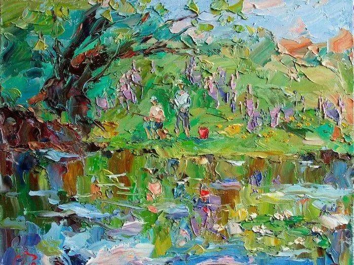 俄罗斯画家 弗拉基米尔·苏科瓦蒂 刮刀油画作品欣赏插图37