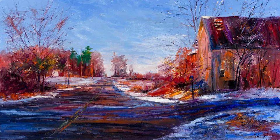 风景油画丨美国艺术家乔治·加洛的风景油画作品插图17