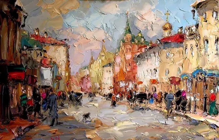 俄罗斯画家 弗拉基米尔·苏科瓦蒂 刮刀油画作品欣赏插图39